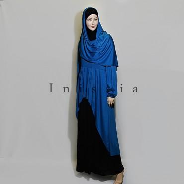 Robe bi- couleur femme musulmane