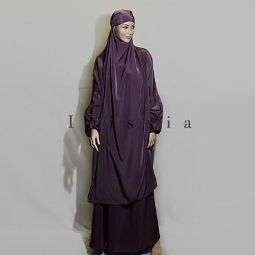jilbab femme peau de pêche