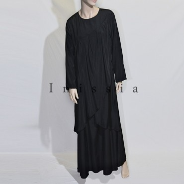 Robe musulmane grande taille croisé - Inissia Grossiste
