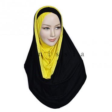 Hijab croisé capuche - Grossiste Aubervilliers