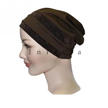 Bonnet femme musulmane fermé lurex - Inissia