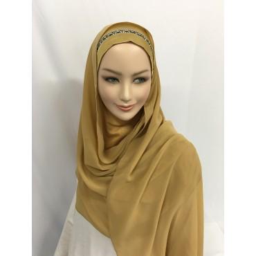 Hijab malaisien avec bonnet satin