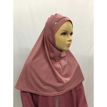 Hijab enfant galon paillette