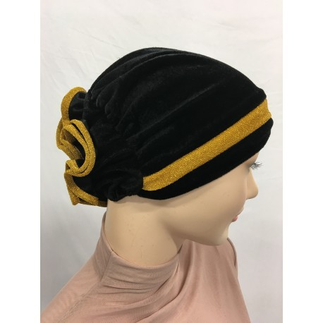 BONNET EN VELOURS LUREX
