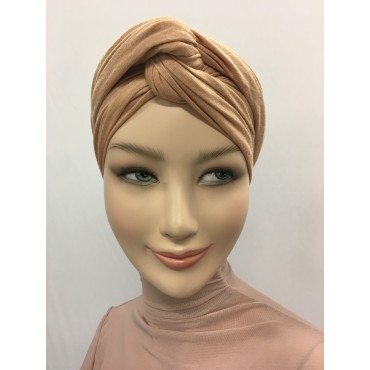 TURBAN SNOOD DOUBLE NOEUD