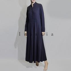 robe coton boutons