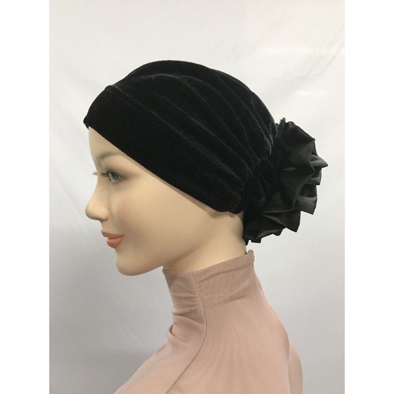 Bonnet fleur en velours